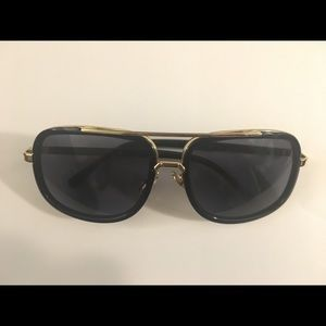 Square Shape Gold Sunglasses